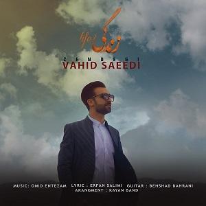 دانلود آهنگ جدید وحید سعیدی به نام زندگی